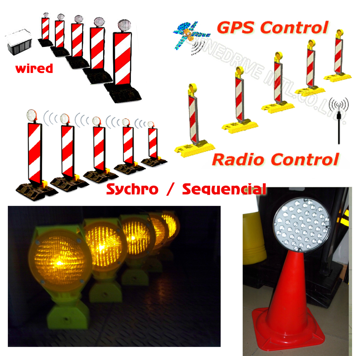 Benedrive solar embedded road markers studs reflectors synchronous sequencial warning lamps biocorpaavc